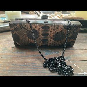 Rodo Python Box Clutch Bag